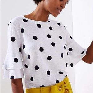Loft Vintage Soft Tee dotted bell cuff small